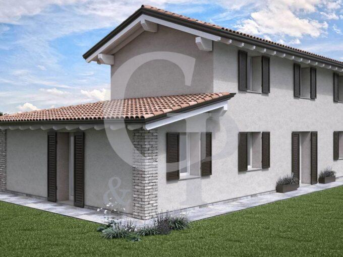 villa trifamiliare giardino zola predona nuova costruzione vendita