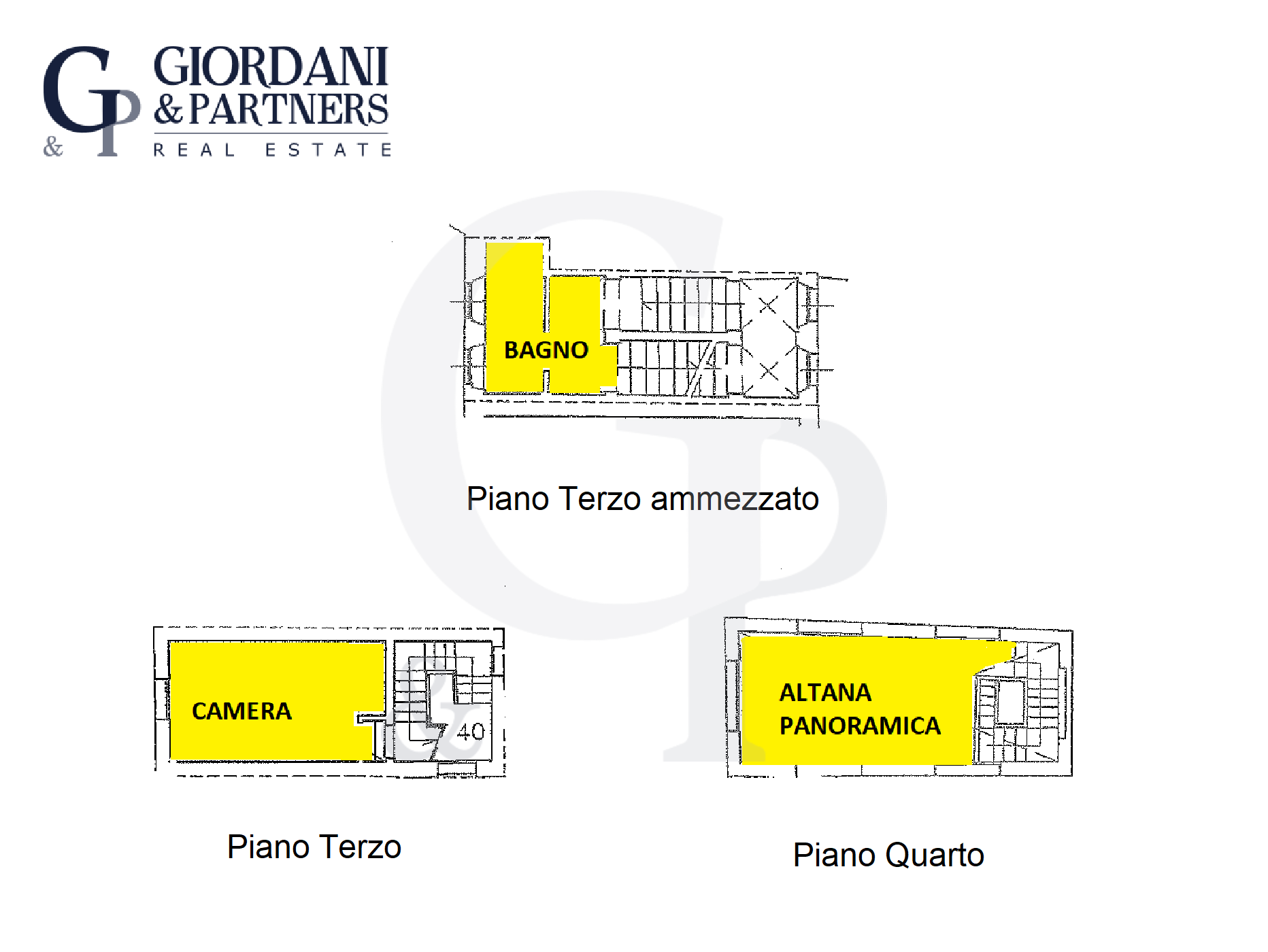Piani Terzo ammezzato, Terzo e Quarto